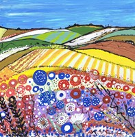 Wheatfields In Scotland Fine Art Print