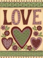 Love I Framed Print