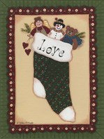 Stocking II Love Framed Print
