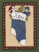 Stocking III Hope Framed Print