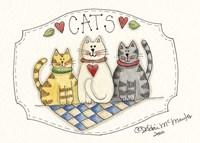 Three Cats Fine Art Print