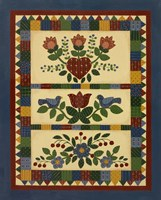Flower Quilt 2 Framed Print