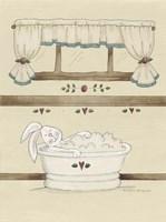 One Bunny In Tub Fine Art Print