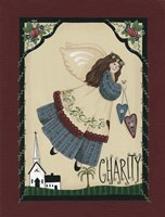 Charity Angel Framed Print