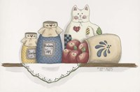 Patchwork Cat Jam Fine Art Print