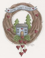 Sweet Home Wreath Fine Art Print