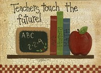 Teachers Touch The Future Framed Print