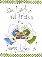 Love, Laughter And Friends Framed Print