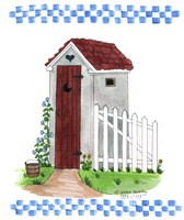 Grey Outhouse Fine Art Print