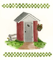 Brick Outhouse Fine Art Print