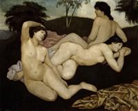 After the Bath, Three Nymphs 1908 Fine Art Print