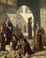 Merchants of Cairo, 1900 Fine Art Print