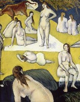 Bathers with a Red cow, 1887 Fine Art Print