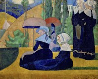 Breton Women with Parasols, 1892 Fine Art Print
