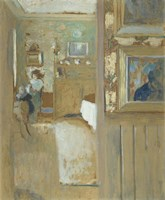 At the House of Maurice Denis at Saint-Germain-en-Laye, c. 1905 Fine Art Print