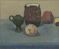 Stoneware Pot and Apples, 1887 Fine Art Print
