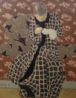 Woman Mending Fine Art Print