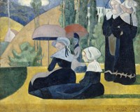 Breton Women with Umbrellas, 1892 Fine Art Print