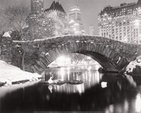 Snowfall In Central Park Fine Art Print