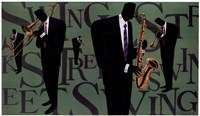 Swing Street Horns Fine Art Print