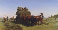 Haymaking in Auvergne, 1855 Fine Art Print