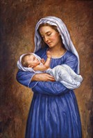 Mary And Baby Jesus Fine Art Print