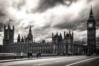 Houses of Parliament B/W Fine Art Print
