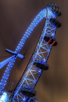 London Eye Lit up in Blue Fine Art Print