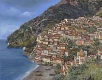Positano E Torre Clavel Fine Art Print
