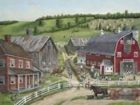 Busy Barnyard Fine Art Print