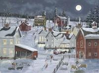 Busy Village Fine Art Print
