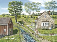 Cottage Pathway Fine Art Print