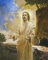 Jesus In Front Of Cave Fine Art Print