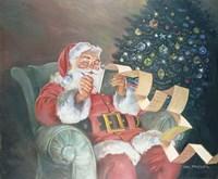 Checking His List Fine Art Print