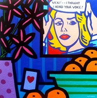 Homage To Lichtenstein Framed Print