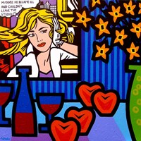 Still Life With Lichtenstein 2 Fine Art Print
