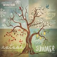 Four Seasons Tree Fine Art Print