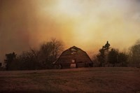 The Old Barn On A Fall Evening Fine Art Print