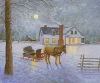 Wintery Night Fine Art Print