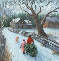 Christmas on the Farm Fine Art Print