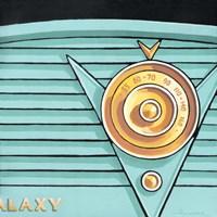 Galaxy Radio - Aqua Framed Print
