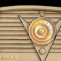 Galaxy Radio - Tan Framed Print