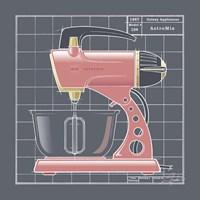 Galaxy Mixer - Flamingo Framed Print