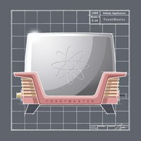 Galaxy Toaster - Flamingo Fine Art Print