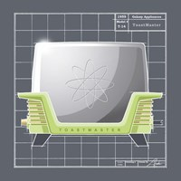 Galaxy Toaster - Lime Fine Art Print