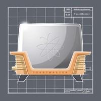 Galaxy Toaster - Tangerine Framed Print