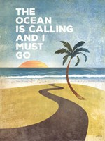 The Ocean is Calling Framed Print