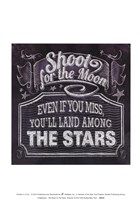 Chalkboard - The Moon & The Stars Fine Art Print