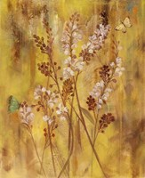 Golden Butterfly Field I Framed Print