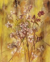 Golden Butterfly Field II Framed Print
